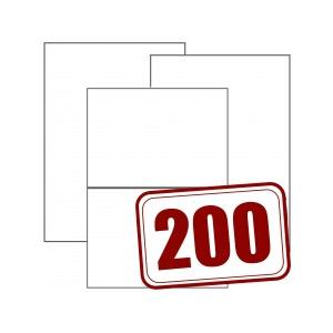 Bogenetiketten 200 Blatt Packung