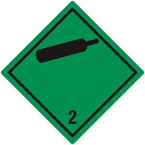 Gefahrgutetiketten Klasse 2, Unterklasse 2.2