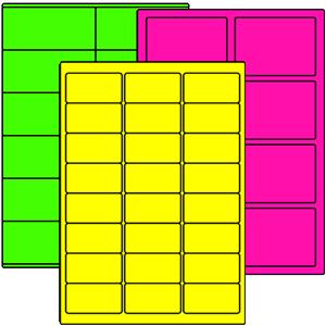 Farbige Papier-Etiketten auf Bogen