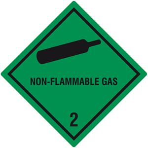 Gefahrgutetiketten Klasse 2, Unterklasse 2.2, Non-Flammable Gas