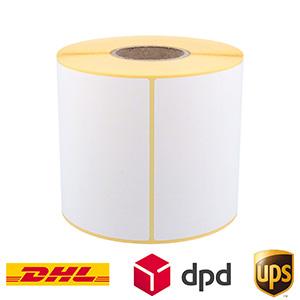 Thermo-Eco-Etiketten, weiß, unbeschichtet, permanent klebend, auf 40 mm Rollenkern