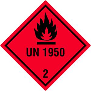 Gefahrgutetiketten Klasse 2 - UN1950