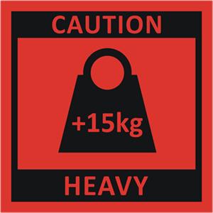 Caution Heavy +15kg