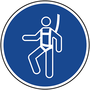 Mandatory Sign: Wear Safety Harness