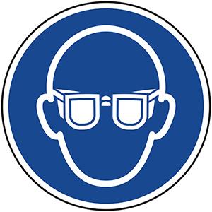 Mandatory Sign: Wear Eye Protection
