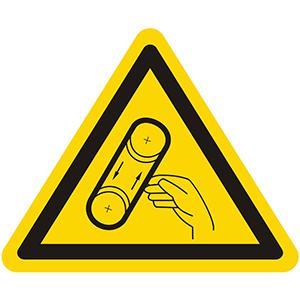 Warnung vor Bandeinzug