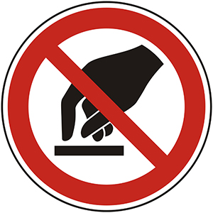 Prohibition Sign: Do Not Touch