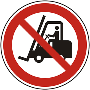 Prohibition Sign: No Access for Industrial Vehicles