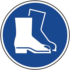 Mandatory Sign: Wear Safety Boots