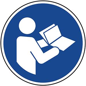 Mandatory Sign: Read the Manual