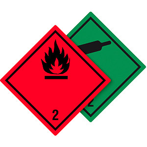 Gefahrgutetiketten Klasse 2