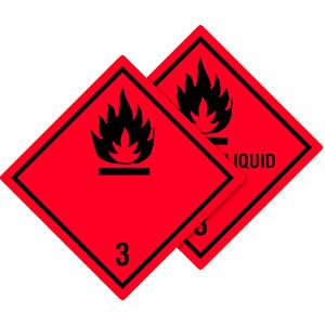 Gefahrgutetiketten Klasse 3