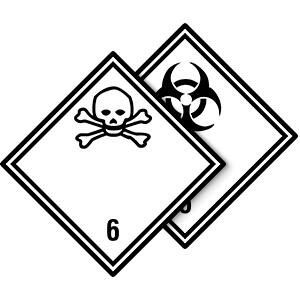 Gefahrgutetiketten Klasse 6