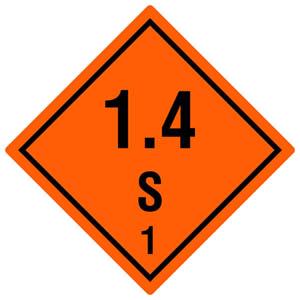 Gefahrgutetiketten Klasse 1, Unterklasse 1.4 S