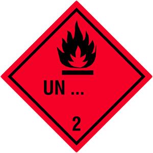 Gefahrgutetiketten Klasse 2.1 - Sonderanfertigung
