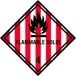 Gefahrgutetiketten Klasse 4.1, Flammable Solid