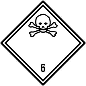 Gefahrgutetiketten Klasse 6.1 - Giftige Stoffe
