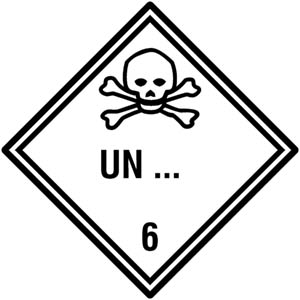 Gefahrgutetiketten Klasse 6.1 - Sonderanfertigung