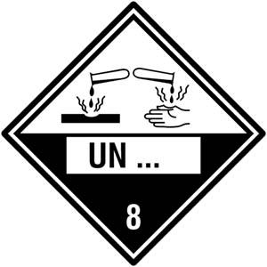 Gefahrgutetiketten Klasse 8 - Sonderanfertigung