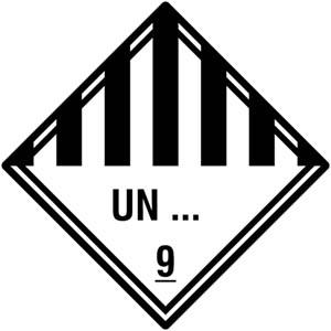 Gefahrgutetiketten Klasse 9 - Sonderanfertigung