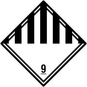 Gefahrgutetiketten Klasse 9 - Verschiedene gefährliche Stoffe und Gegenstände