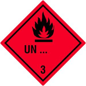 Gefahrgutetiketten Klasse 3 - Sonderanfertigung