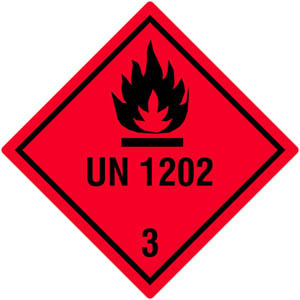 Gefahrgutetiketten Klasse 3, UN1202