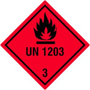 Gefahrgutetiketten Klasse 3, UN1203