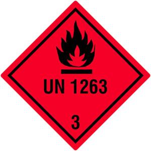 Gefahrgutetiketten Klasse 3, UN1263