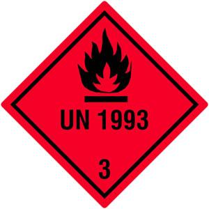 Gefahrgutetiketten Klasse 3, UN1993