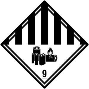 Transportaufkleber: Gefahrgutklasse 9A
