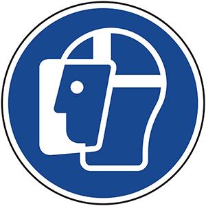 Mandatory Sign: Wear Face Shield