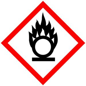 GHS-Symbole: Entzündend (oxidierend) wirkende Stoffe