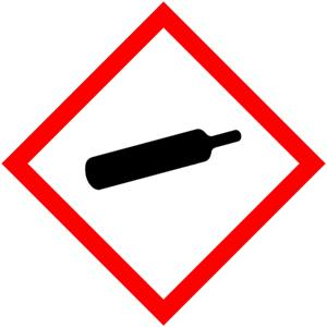 GHS-Symbole: Unter Druck stehende Gase