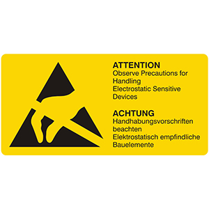 Handhabungsvorschriften beachten / Observe precautions for handling