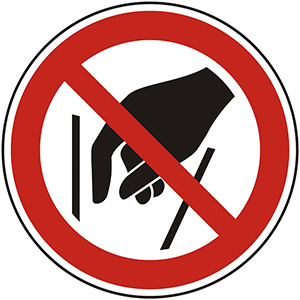 Prohibition Sign: Do Not Reach Inside