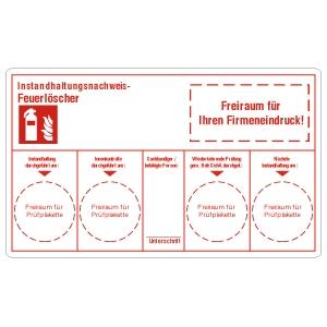 Maintenance Labels: Fire Extinguisher, customized