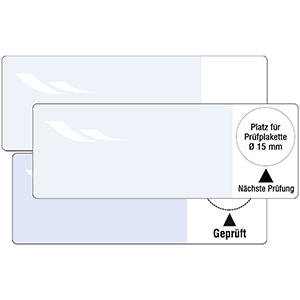 Cable Inspection Labels: Nächste Prüfung / Geprüft,  for individual inscription - in Pack
