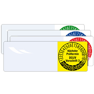 Cable Inspection Labels: Nächster Prüftermin DGUV Vorschrift 3 - in Pack