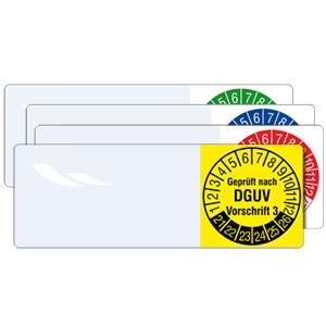 Cable Inspection Labels: Geprüft nach DGUV Vorschrift 3 - in Pack