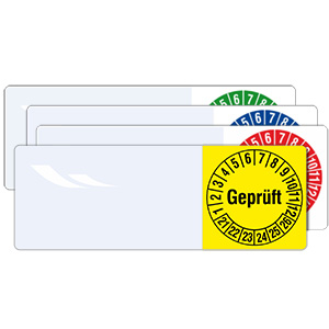 Cable Inspection Labels: Geprüft - in Pack
