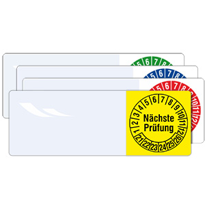 Cable Inspection Labels: Nächste Prüfung - in Pack