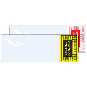 Cable Inspection Labels: Nächster Prüftermin - in Pack