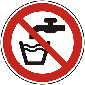 Prohibition Sign: Not Drinking Water