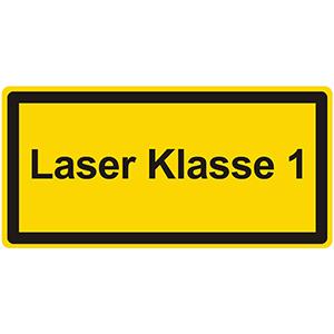 Laser Warning Labels: Laser Klasse 1
