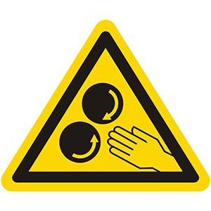 Warnung vor laufenden Walzen