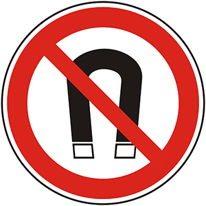 Prohibition Sign: No Magnets