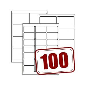 Papieretiketten, weiß, Spezialklebstoff, glänzend, auf DIN A4, 100 Blatt