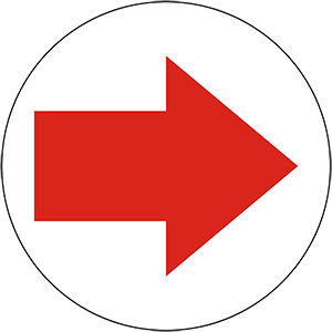 Directional Arrow, Red and Black