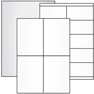 Silver & transparent Polyester Labels